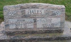 Eleanor <I>Peterson</I> Hales