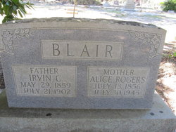 Alice <I>Rogers</I> Blair