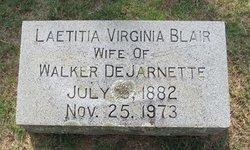 Laetitia Virginia <I>Blair</I> DeJarnette