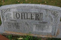Marian <I>Harbaugh</I> Ohler