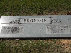 Pauline <I>McKenzie</I> Bronson