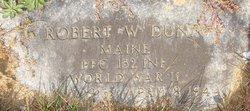PFC Robert W Dunn
