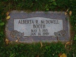 """Alberta R. """"Berdie"""" <I>McDowell</I> Booth"""
