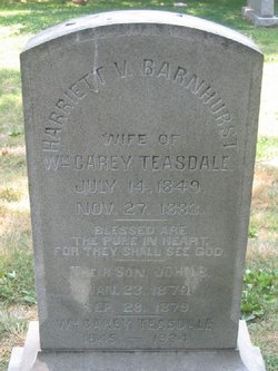 Harriet Virginia <I>Barnhurst</I> Teasdale