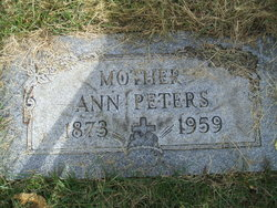 Anne <I>Wallace</I> Peters