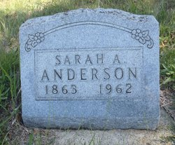 Sarah A <I>Rickabaugh</I> Anderson