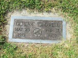 Margaret Geneva <I>Crowell</I> Clontz