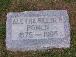 Aletha Ellen <I>Reeder</I> Bowen
