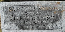 Ida Potter <I>Manson</I> Watson