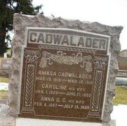 Caroline <I>Crossley</I> Cadwalader