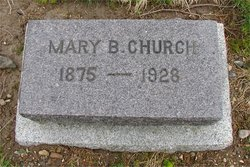 Mary <I>Benson</I> Church