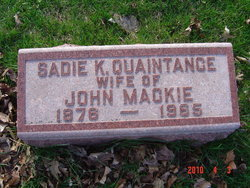 """Sarah Laverne """"Sadie"""" <I>King Quaintance</I> Mackie"""