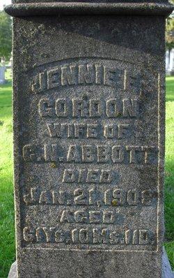 Jennie <I>Gordon</I> Abbott