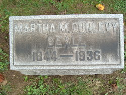 Martha Matilda <I>Dunlevy</I> Beall
