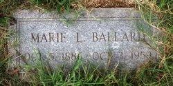 """Marie Louise """"Lula"""" <I>Zuerner Jackson</I> Ballard"""