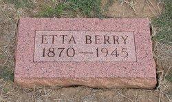"Henrietta Elizabeth ""Etta"" <I>Robertson</I> Berry"