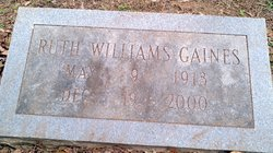 Ruth L <I>Williams</I> Gaines