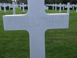 Sgt Leonard Preston Lambert, Jr