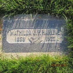 Mathilda Johanna <I>Peterson</I> Harline