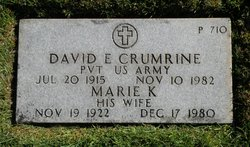 David E Crumrine