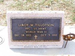 Leroy M Tillotson