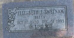 "Elizabeth Jane ""Betty"" <I>Sexton</I> Swetnam"