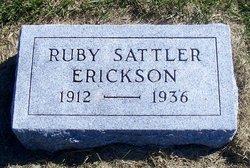 Ruby <I>Sattler</I> Erickson