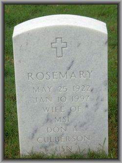 Rosemary Culberson