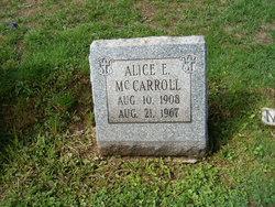 Alice E McCarroll