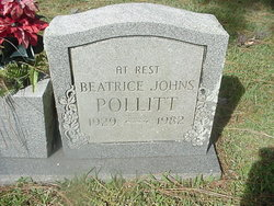 Beatrice <I>Johns</I> Pollitt