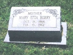 Mary Etta  Cornelia <I>Collins</I> Berry