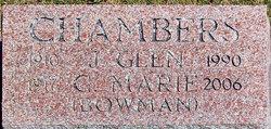 """C. Marie """"Marie"""" <I>Bowman</I> Chambers"""