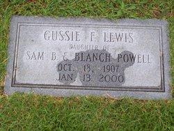 Gussie F <I>Powell</I> Lewis