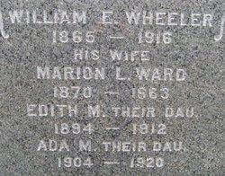 Marion L. <I>Ward</I> Wheeler