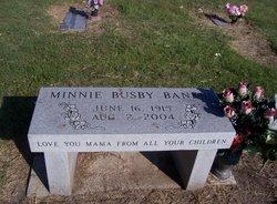Minnie <I>Busby</I> Banks