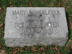 Mary L <I>Woolfolk</I> Sawyer