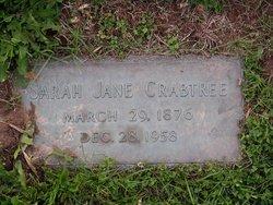 Sarah Jane <I>Martin</I> Crabtree