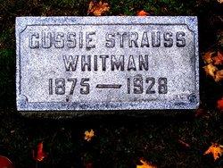 """Augusta """"Gussie"""" <I>Strauss</I> Whitman"""