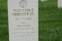 Warren E Sindorf, Sr