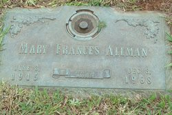 Mary Frances <I>Cato</I> Allman