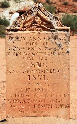 Mary Ann <I>Sparks</I> Gibson