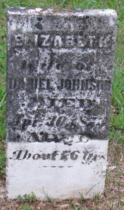 "Elizabeth ""Betsy"" <I>Bridgewater</I> Johnson"