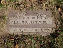 Alice Geniel <I>McQueen</I> Everett