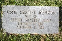 Jessie Caroline <I>Johnston</I> Dean