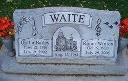 Oralie <I>Bailey</I> Waite