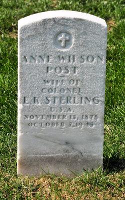 Anne Wilson <I>Post</I> Sterling