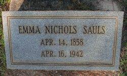 Emma Aleatha <I>Nichols</I> Sauls