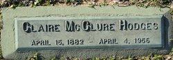 Claire <I>McClure</I> Hodges