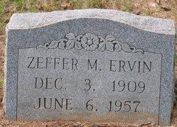 Zeffer M. Ervin