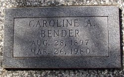 Caroline A. <I>Morgenstern</I> Bender